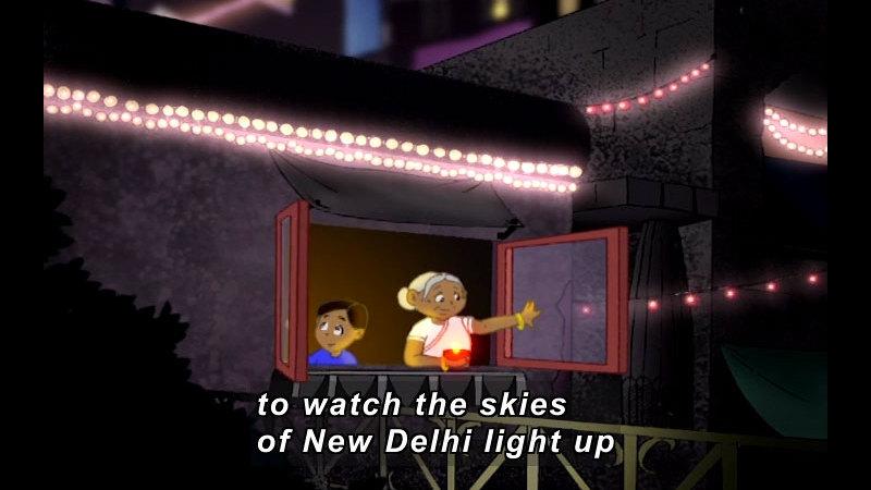 Still image from: Lights For Gita
