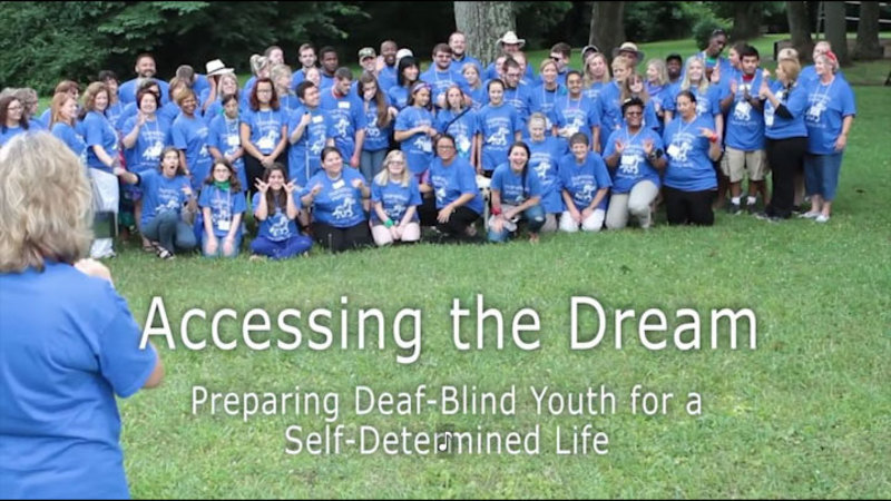 Still image from Accessing The Dream: Preparing Deaf-Blind Youth For A Self-Determined Life