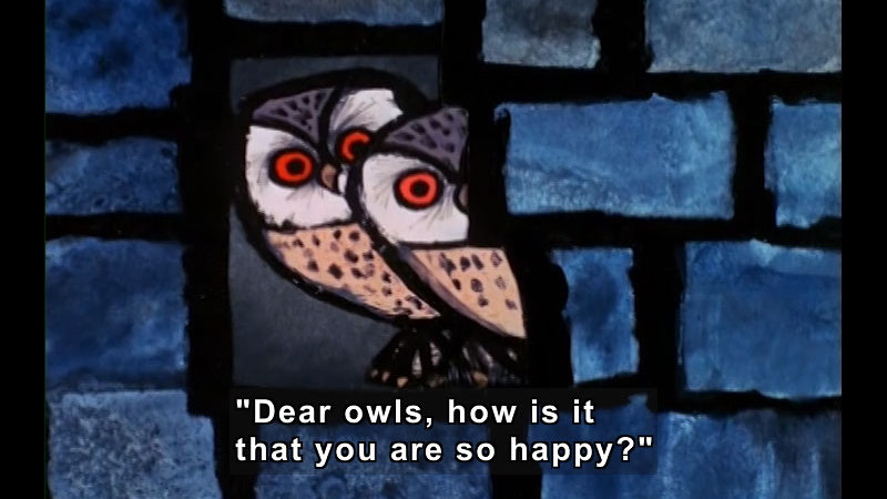 Still image from: The Happy Owls