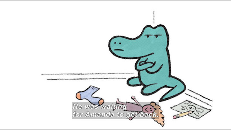 Still image from: Hooray For Amanda & Her Alligator
