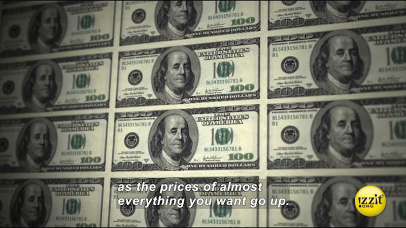 Still image from: Too Much Money