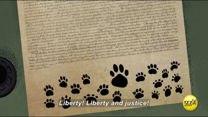 Still image from: Pups Of Liberty: The Dog-claration Of Independence