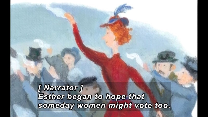 Still image from: I Could Do That: Ester Morris Gets Women The Vote