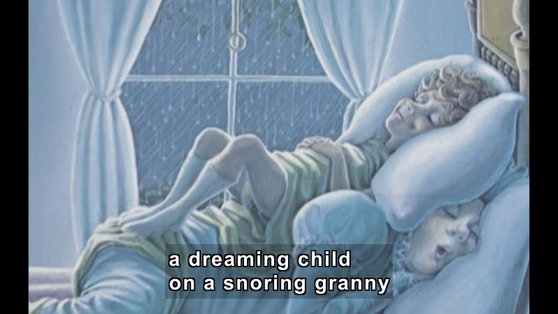 Still image from: The Napping House