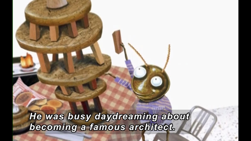 Still image from: Roberto The Insect Architect