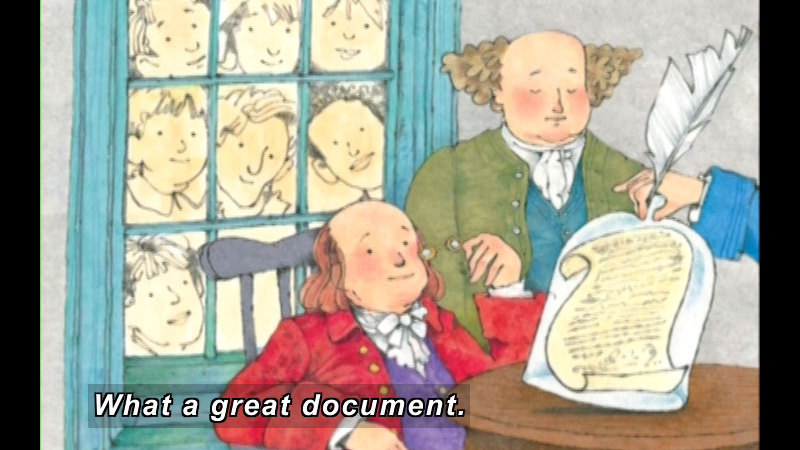 Still image from: The Journey Of The One And Only Declaration Of Independence