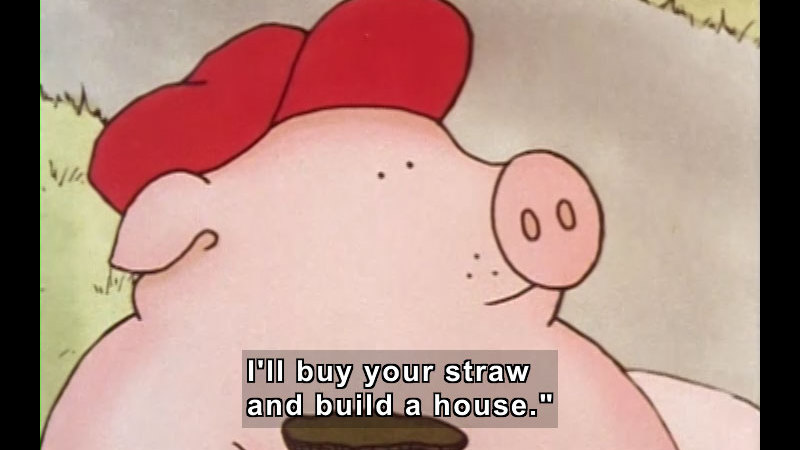 Still image from: The Three Little Pigs