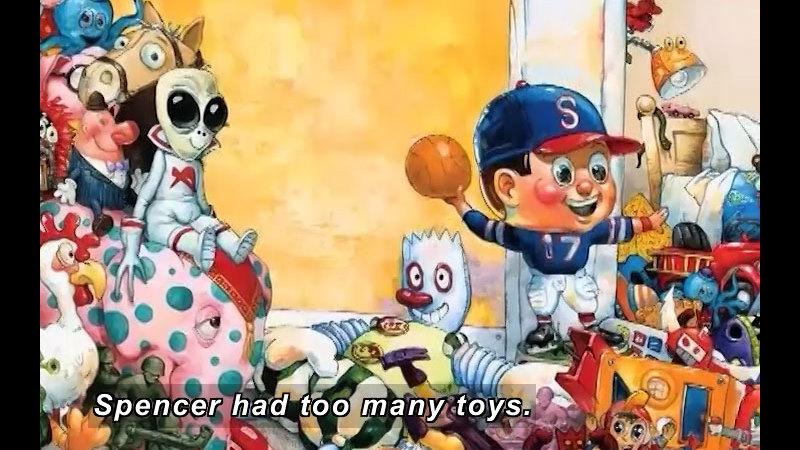 Still image from: Too Many Toys