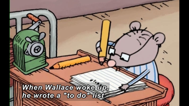 Still image from: Wallace's Lists