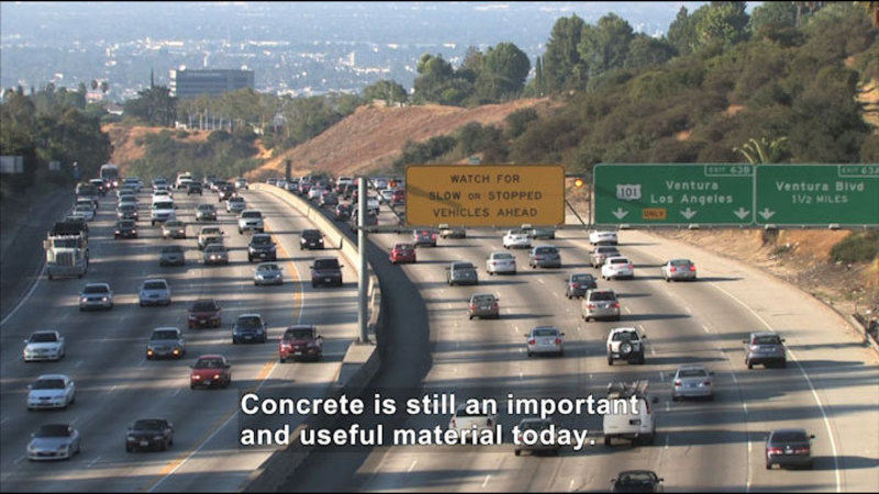 Still image from: Science Video Vocab: Concrete