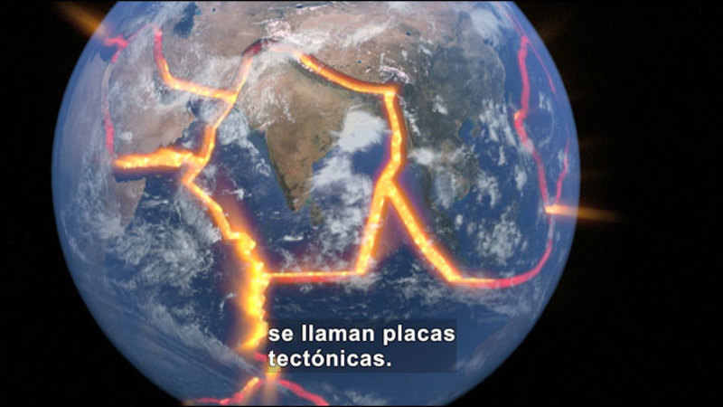 Still image from Science Video Vocab: Earthquake (Spanish)