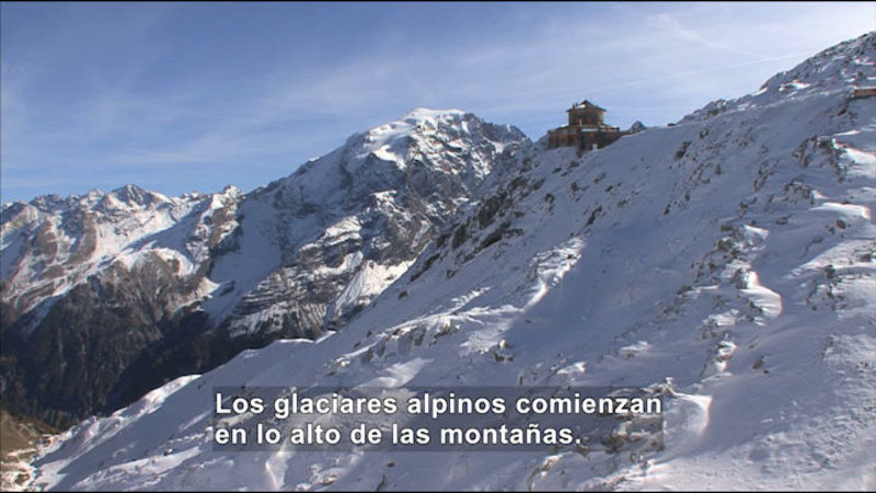 Still image from Science Video Vocab: Glacier (Spanish)