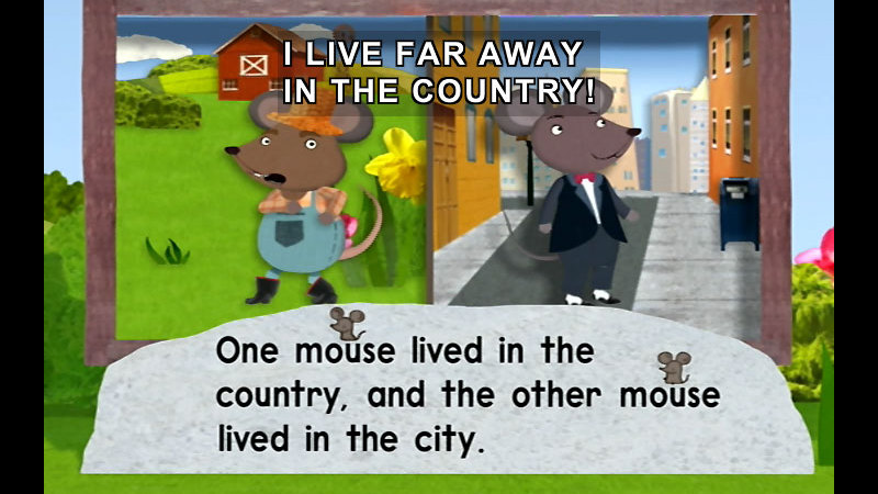 Still image from Super Why!: City Mouse And Country Mouse