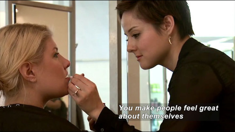 Still image from: Career Connections: Cosmetology