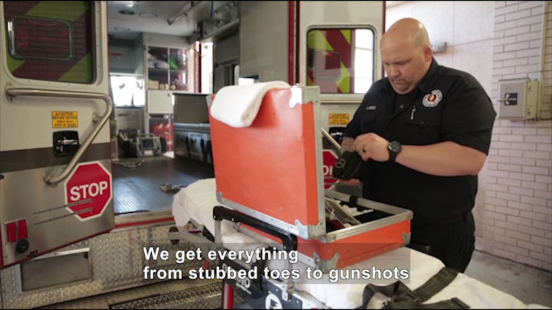 Still image from Career Connections: Paramedic