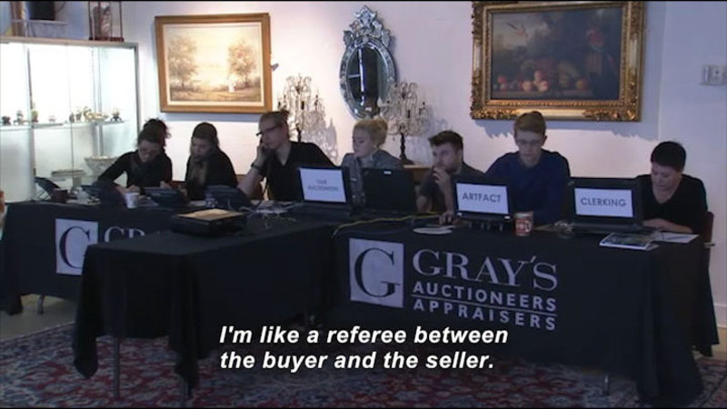 Still image from: Career Connections: Art Auctioneer