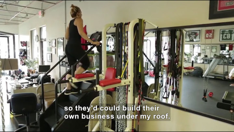 Still image from Career Connections: Gym Owner