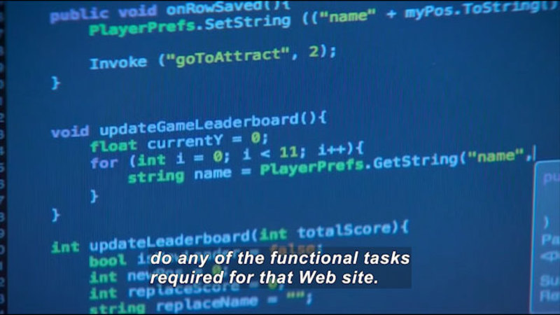 Still image from Career Connections: Web Developer