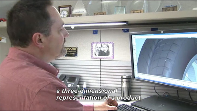Still image from: Career Connections: Automotive Tire Designer