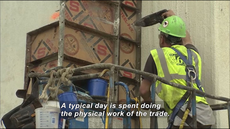 Still image from Career Connections: Construction Worker
