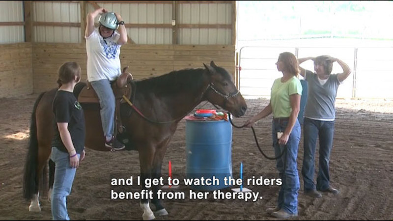 Still image from Career Connections: Equestrian Therapist