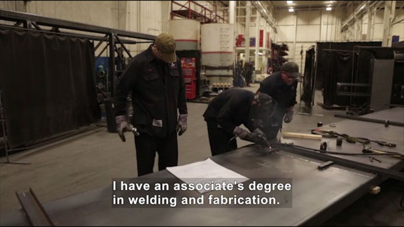 Still image from: Career Connections: Weld Shop Supervisor