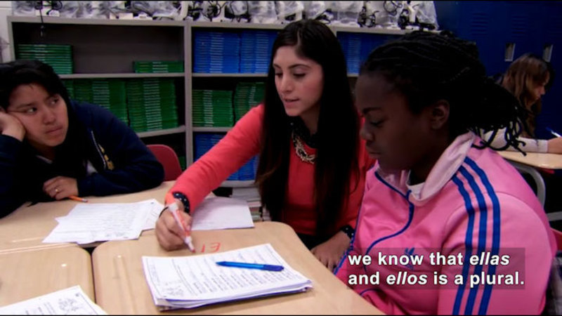 Still image from Career Connections: Multilingual Immersion Studies