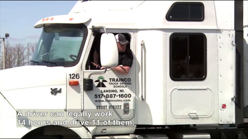 Still image from Career Connections: Commercial Truck Driving