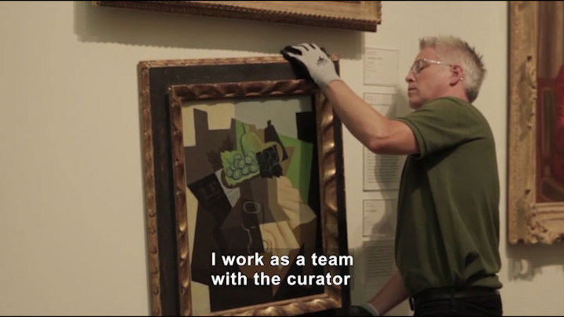 Still image from: Career Connections: Museum Exhibitions Preparator