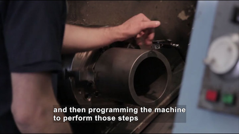 Still image from Career Connections: CNC Die Shop Machinist