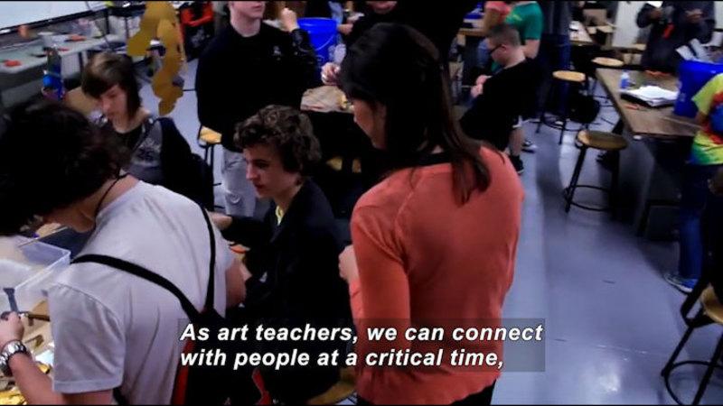 Still image from: Career Connections: High School Art Teacher