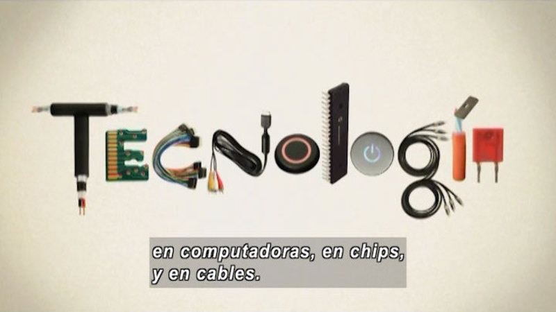 Still image from The Shape of the World: Technology (Spanish)