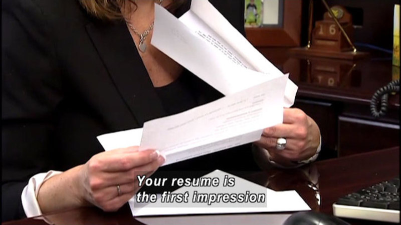 Still image from Disabilities at Work: Smart Résumés and Applications