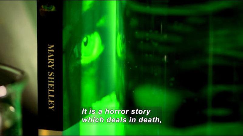 Still image from: The Secret Life of Books: Frankenstein